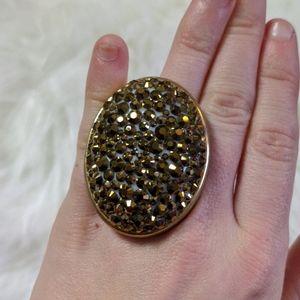 Tarina Tarantino HUGE Fuchsia gold Crystal SUPER S